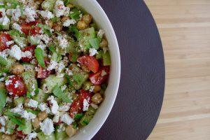 Kikkererwten salade met feta recept ~ minder koolhydraten, maximale smaak ~ www.con-serveert.nl
