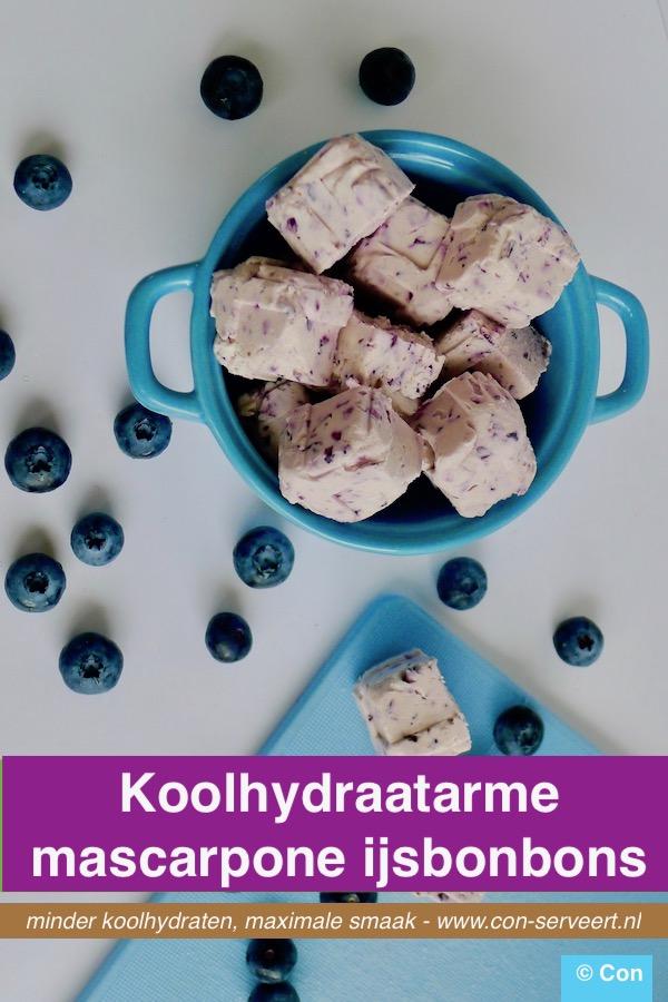 Mascarpone ijsbonbons, koolhydraatarm recept ~ minder koolhydraten, maximale smaak ~ www.con-serveert.nl