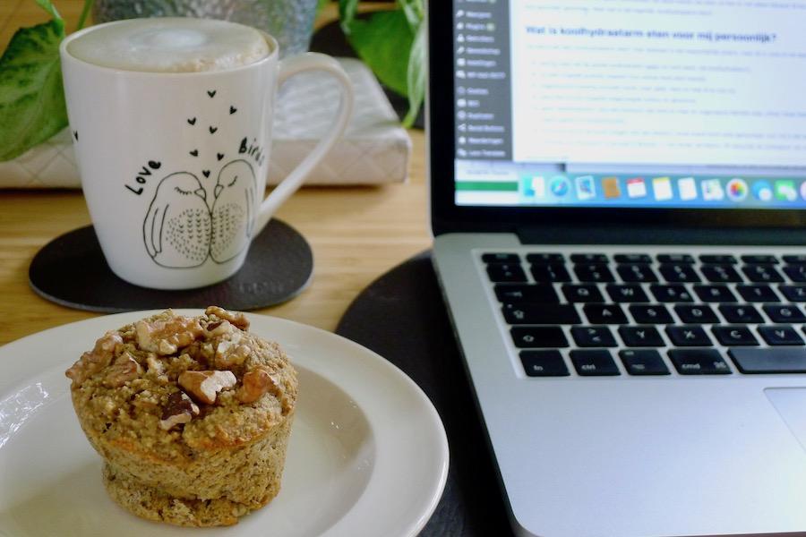 Bananenbrood ontbijt muffins recept ~ minder koolhydraten, maximale smaak ~ www.con-serveert.nl
