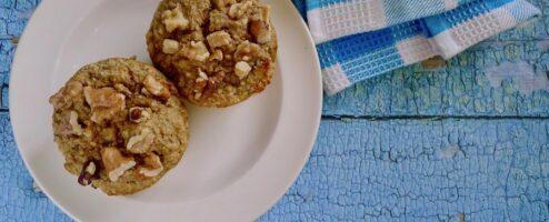 Bananenbrood ontbijt muffins