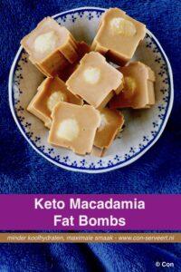 Macadamia fat bombs, ketogeen recept ~ minder koolhydraten, maximale smaak ~ www.con-serveert.nl