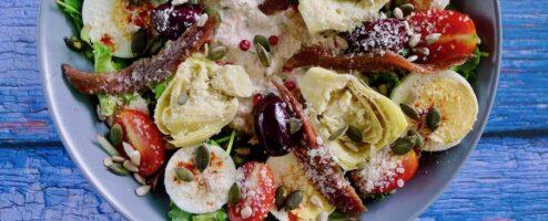 Salade Nicoise met tonijn en artisjok